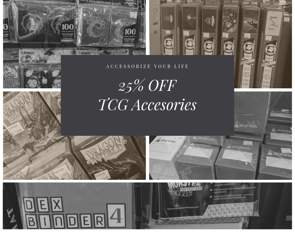 25% off TCG Accessories