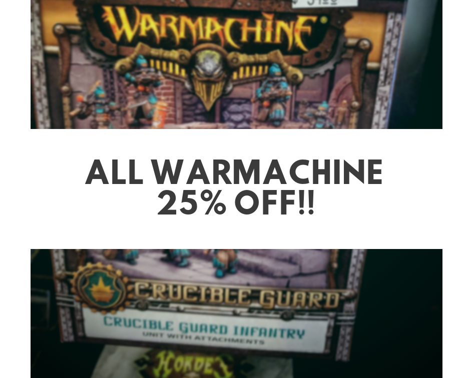 image depicts 25% Off WarMachine