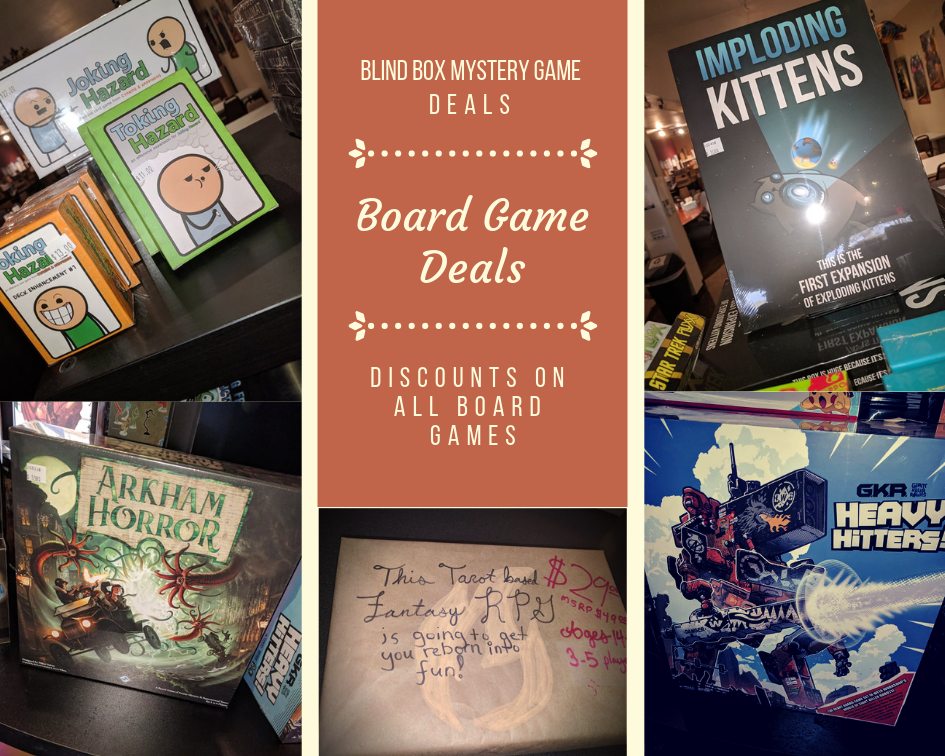 Board Game Deals, Blind Box Mystery Game Deals and Discounts on All Board Games